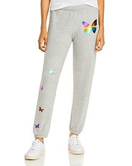 AQUA - Lauren Moshi x AQUA Butterfly Foil Print Jogger Pants - 100% Exclusive