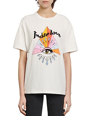 Sandro Indian Embroidered T-Shirt-Women