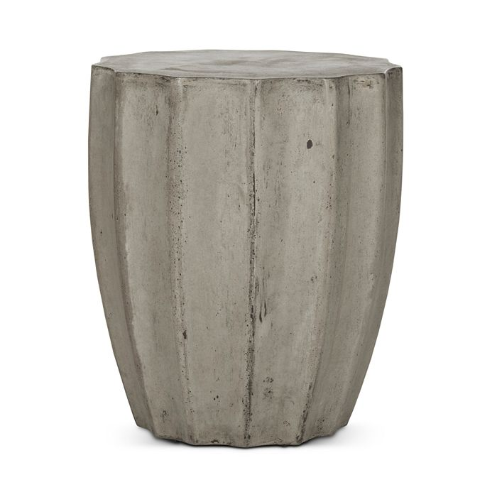 SAFAVIEH - Jaslyn Indoor/Outdoor Modern Concrete Round Accent Table