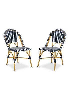 SAFAVIEH - Salcha Indoor-Outdoor French Bistro Side Chair, Set of Two