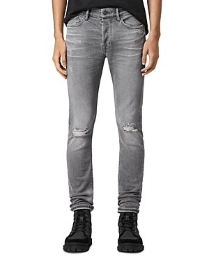 Allsaints SLIM-FIT DESTRUCTED JEANS IN GRAY
