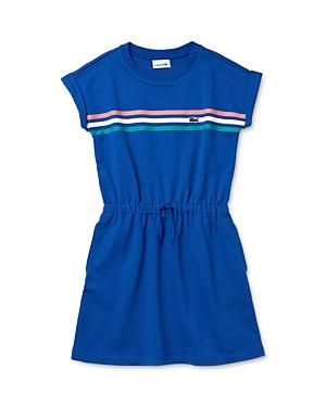 Lacoste GIRLS' DROP-SHOULDER SHORT-SLEEVE DRESS - LITTLE KID, BIG KID