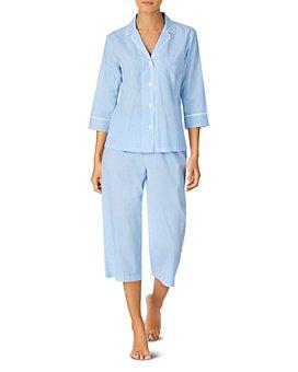 Ralph Lauren - Grosgrain-Ribbon-Trim Capri Pajamas Set