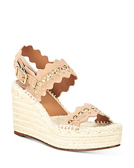 Chloé - Women's Lauren Scalloped Espadrille Wedge Sandals