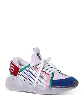 Moschino - Women's Low-Top Lace Up Sneakers