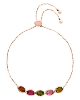 Bloomingdale's - Rainbow Tourmaline Bolo Bracelet in 14K Rose Gold - 100% Exclusive