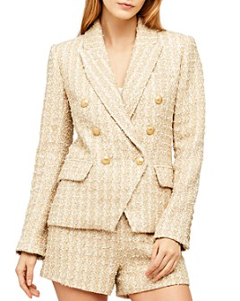 L'AGENCE - Kenzie Double-Breasted Tweed Blazer