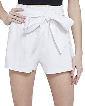 Alice and Olivia - Linn Tie-Waist Paper Bag Shorts