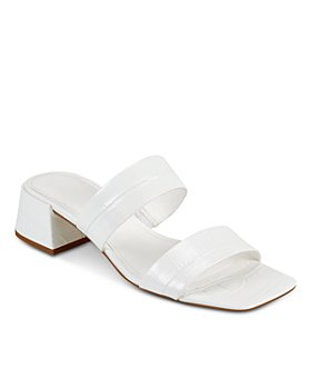 Marc Fisher LTD. - Women's Pat Square Toe Mid Heel Sandals