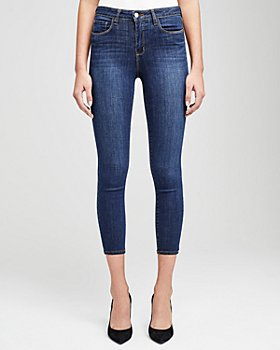 L'AGENCE - Margot High-Rise Skinny Jeans in Prime Blue