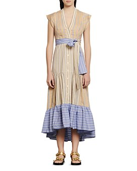 Sandro - Roshanda Striped Midi Dress