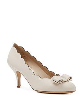 Salvatore Ferragamo - Women's Scalloped Mid Heel Pumps