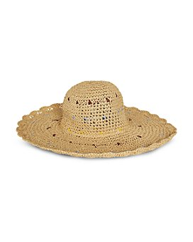BCBGMAXAZRIA - Scalloped Edge Sun Hat