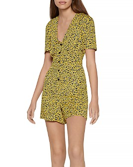 BCBGeneration - Animal Print Woven Romper