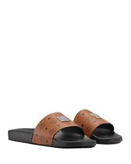 MCM - Women's Visetos Slide Sandals