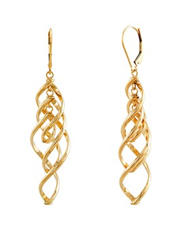 Bloomingdale's - Twisted Dangle Drop Earrings in 14K Yellow Gold - 100% Exclusive