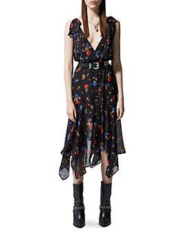 The Kooples - Daydream Flowers Silk Wrap Dress