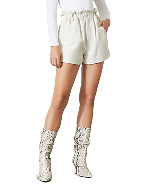 Grlfrnd Shea Leather Paperbag Shorts