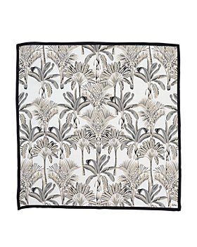 Echo - Wild Palm Square Silk Scarf