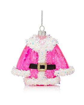 Bloomingdale's - Glass Santa Coat Ornament - 100% Exclusive