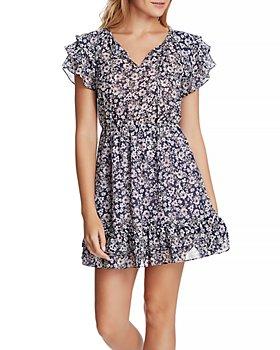 1.STATE - Flutter Sleeve Wildflower Dress