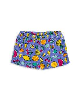 Candy Pink - Girls' Fruit Print Fleece Pajama Shorts - Big Kid