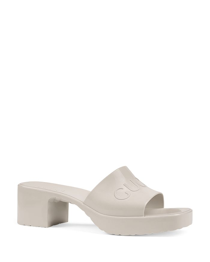 Gucci - Women's Block Heel Platform Slide Sandals