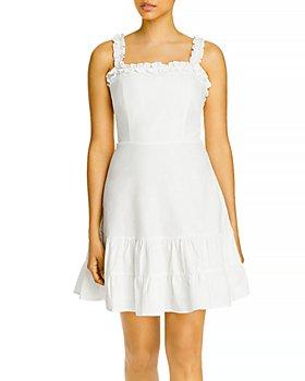 AQUA - Ruffled Strap Mini Dress - 100% Exclusive
