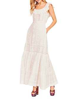 LoveShackFancy - Niko Cotton Lace & Eyelet Maxi Dress