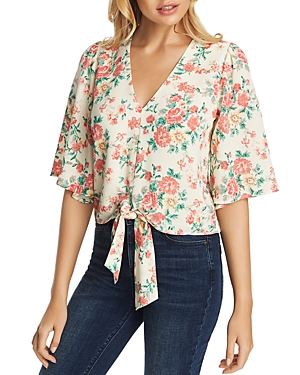 Image of 1.state Bouquet Flounce Sleeve Blouse