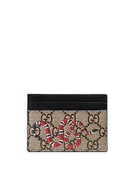 Gucci - Kingsnake Print GG Supreme Card Case