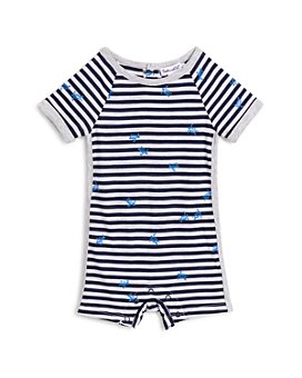 Splendid - Unisex Turtle Print Striped Coverall - Baby
