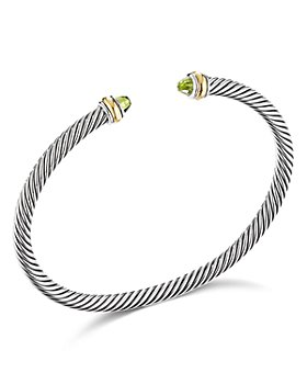 David Yurman - Cable Classic Bracelet with Peridot and 18K Yellow Gold