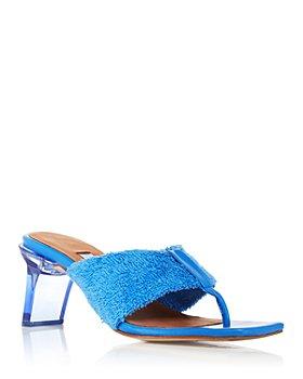Miista - Women's Carissa French Terry Clear Heel Sandals