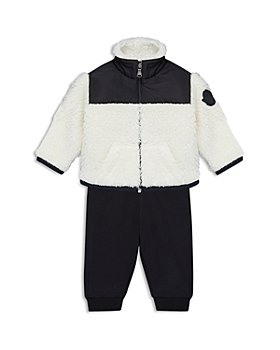 Moncler - Unisex Fuzzy Fleece Jacket & Jogger Pants Set - Baby