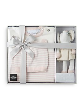 Elegant Baby - Girls' 3 Pc. Hat, Jumpsuit & Plush Toy Boxed Gift Set, Baby – 100% Exclusive