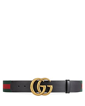 Gucci - Women's Web Belt with Double G Buckle