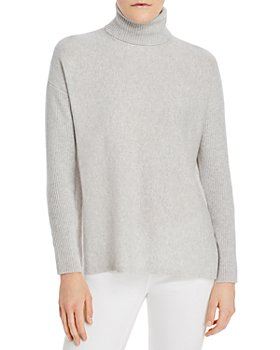 C by Bloomingdale's - High/Low Cashmere Turtleneck Sweater - 100% Exclusive