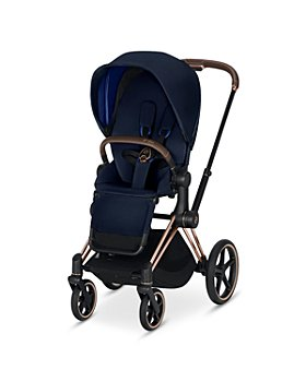 Cybex - Priam 3-in-1 Stroller System with Rosegold Frame + Premium Black Seat