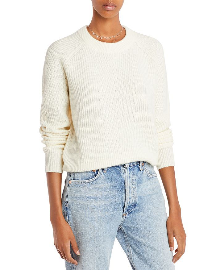 AQUA - Ribbed Cashmere Sweater - 100% Exclusive