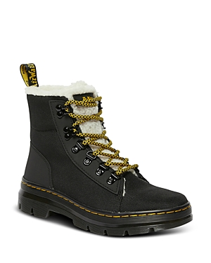 Dr. Martens Women\\\'s 6 Tie Faux Fur Lined Boots