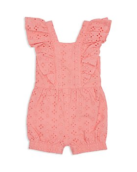 Habitual Kids - Girls' Cotton Flutter Eyelet Romper - Little Kid