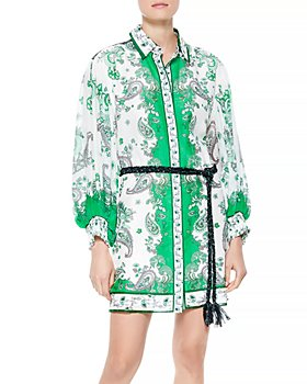 Alice and Olivia - Oralia Printed Belted Dress