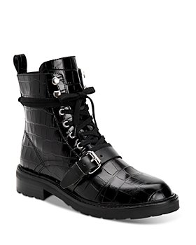 ALLSAINTS - Women's Donita Embossed Combat Boots