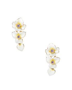 kate spade new york - Precious Pansy Enamel Ear Crawler Earrings