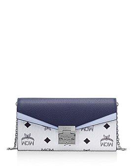 MCM - Patricia Visetos Color Block Leather Crossbody Wallet
