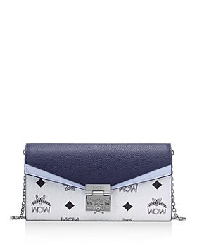 MCM - Patricia Visetos Color Block Leather Crossbody Wallet