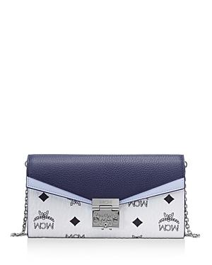 Mcm Patricia Visetos Color Block Leather Crossbody Wallet-Handbags