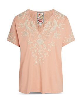 Johnny Was - Oriana Embroidered Boxy Cotton Tee