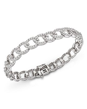 Bloomingdale's - Diamond Link Bracelet in 14K White Gold, 5.0 ct. t.w. - 100% Exclusive